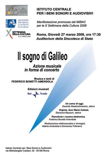 Locandina Il Sogno di Galileo