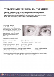 Locandina HELSINKI 22/10/2009