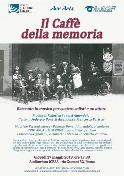 Caffè della memoria 17.05.2018 ore 17.30 ICBSA Roma